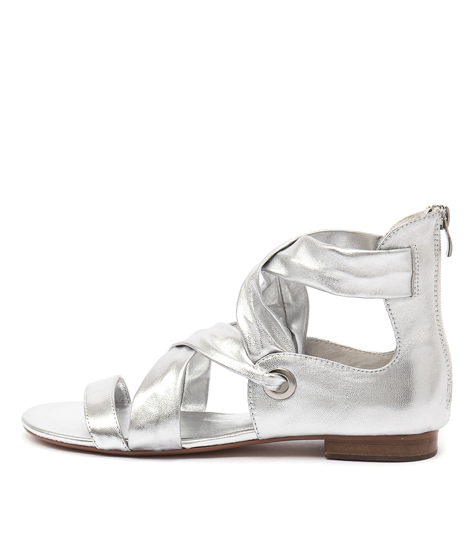 buy Django & Juliette Pish Silver Sandals shop Django & Juliette Sandals online