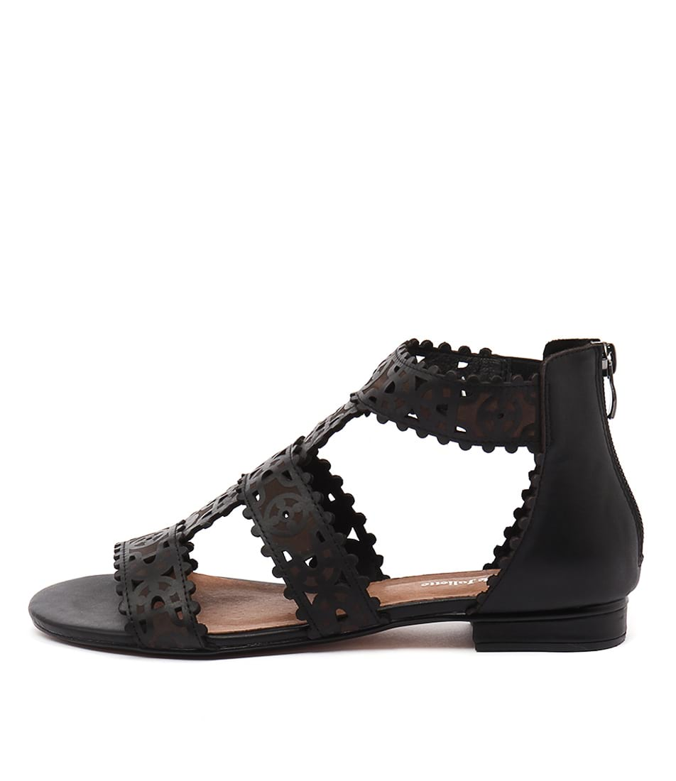 buy Django & Juliette Perla Black Sandals shop Django & Juliette Sandals online