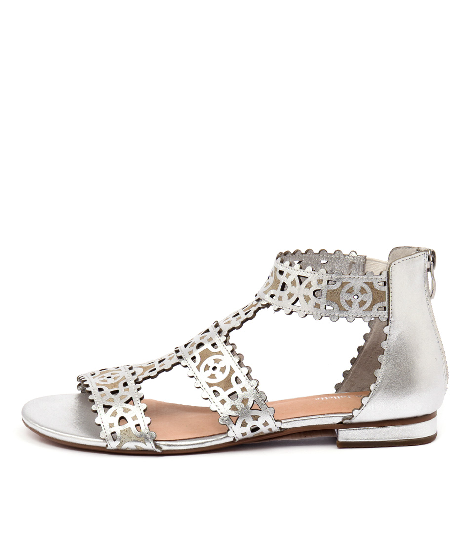 Django & Juliette Perla Silver Sandals