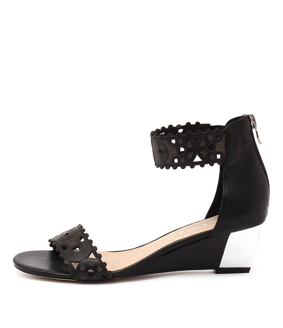 Django & Juliette Revoke Black Dress Heeled Sandals