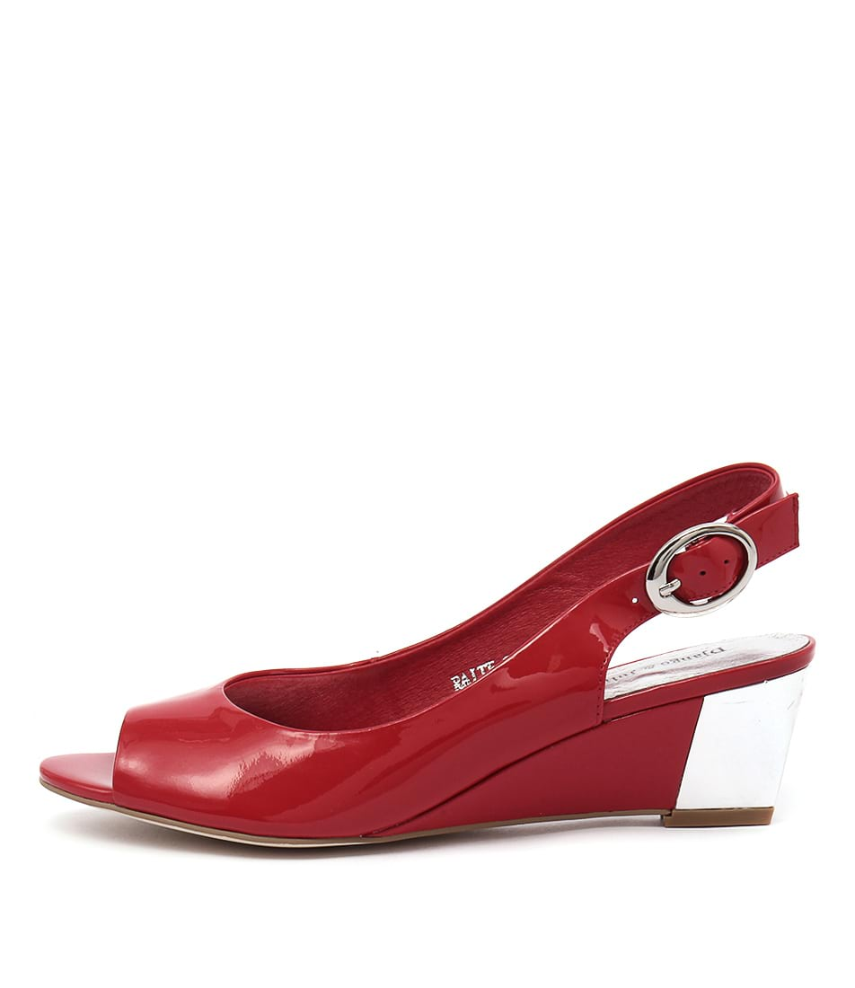 Django & Juliette Raite Red Dress Heeled Sandals