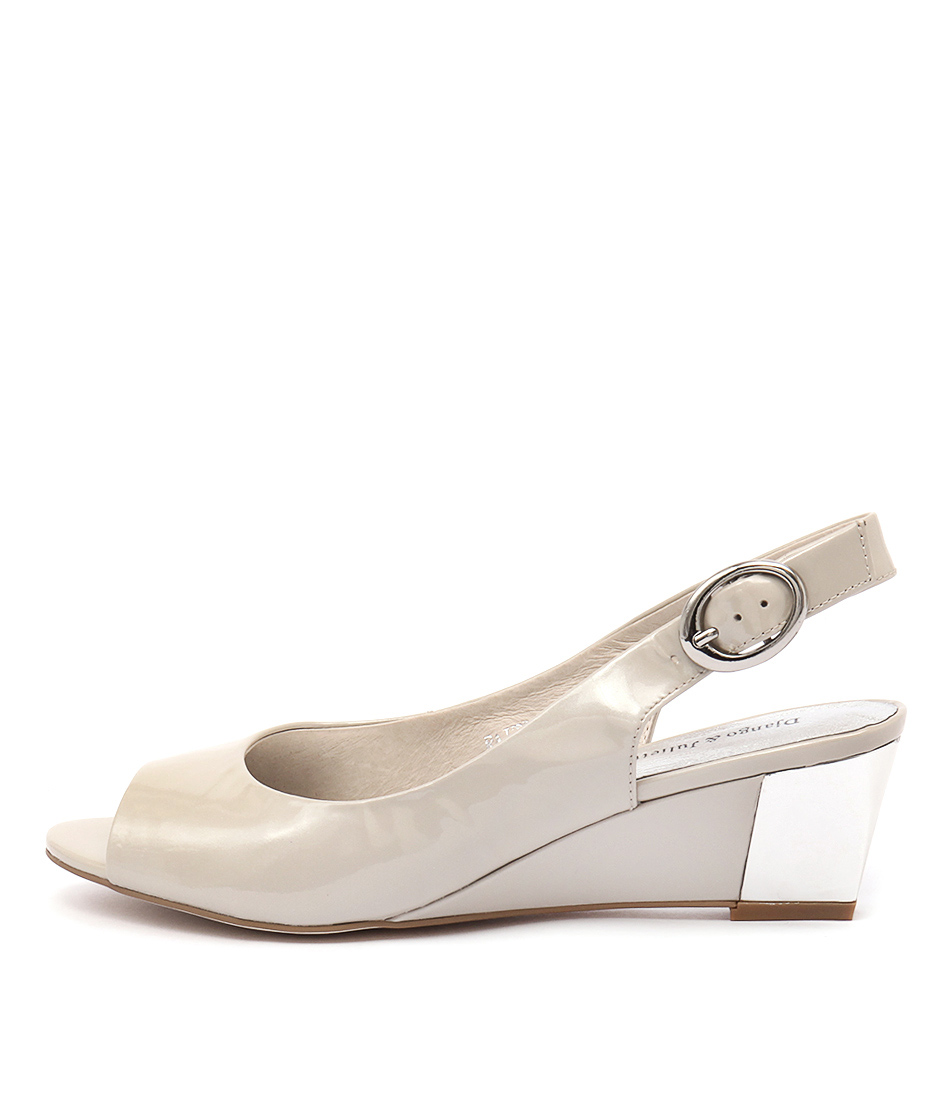 Django & Juliette Raite Taupe Dress Heeled Sandals