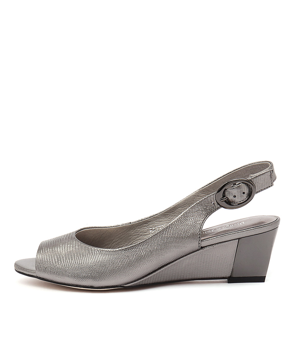 Django & Juliette Raite Pewter Dress Heeled Sandals buy  online