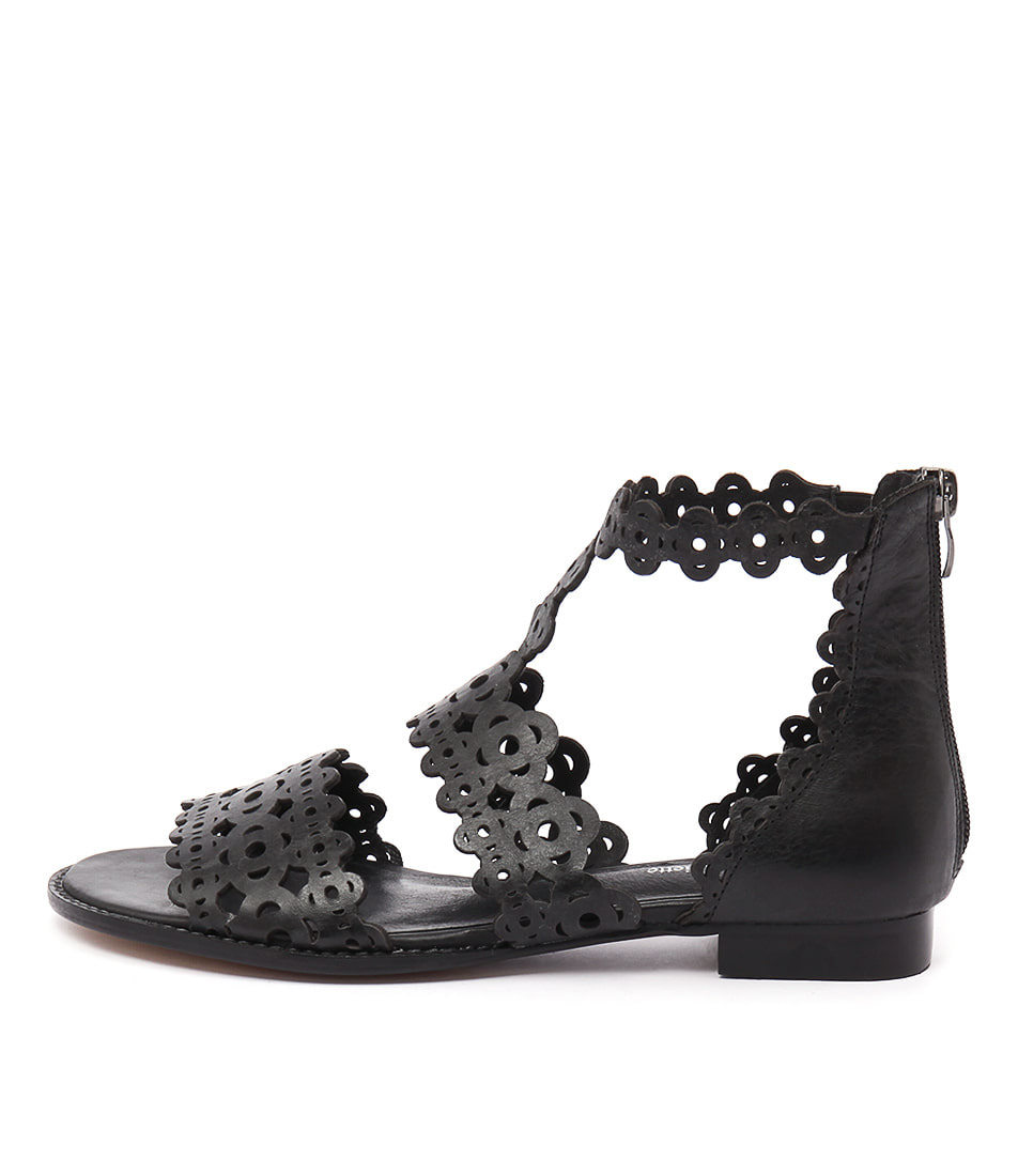 Django & Juliette Reama Black Sandals