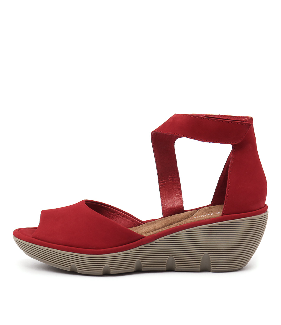 Django & Juliette Tina Red Heeled Sandals buy  online
