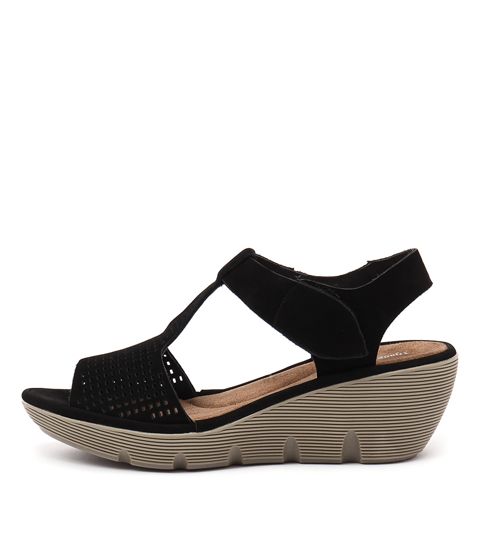Django & Juliette Torrid Black Casual Heeled Sandals