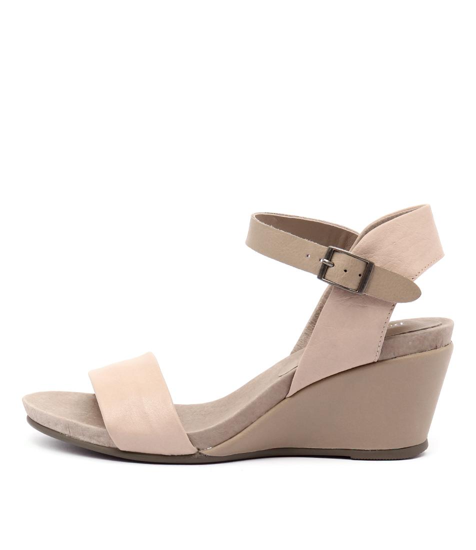 Django & Juliette Uday Nude Taupe Sandals