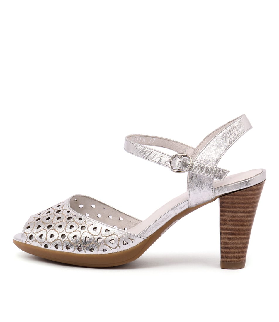 Django & Juliette Wappa Washed Silver Sandals