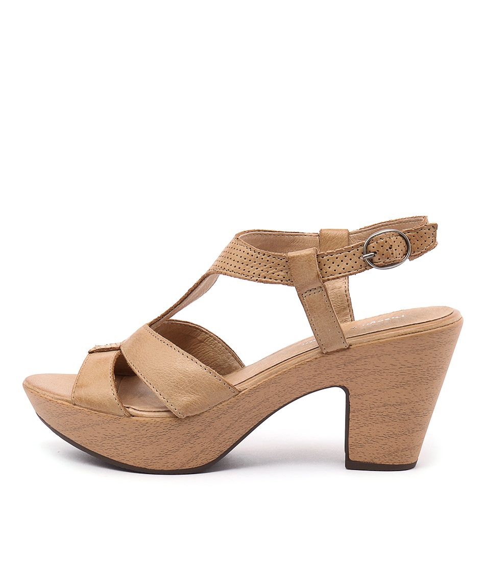 Photo of Django & Juliette Wisdom Tan Heeled Sandals womens shoes