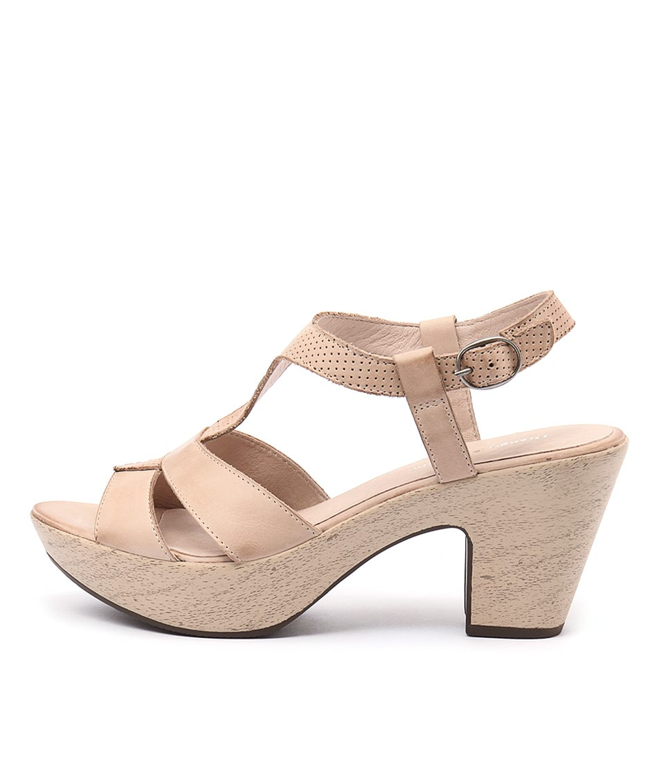 Django & Juliette Wisdom Beige Casual Heeled Sandals