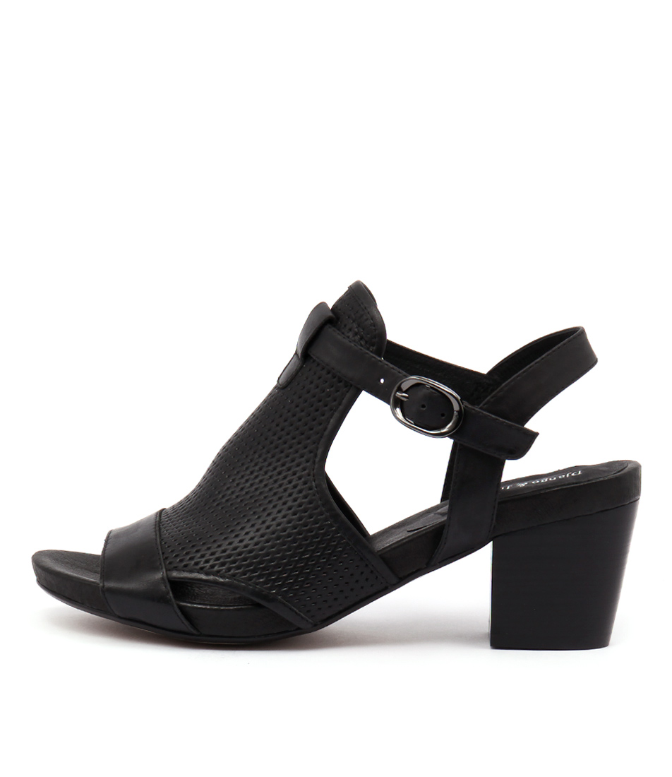 Django & Juliette Zunton Black Dress Heeled Sandals
