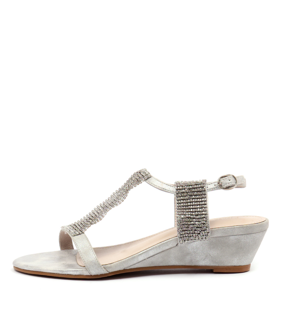 Django & Juliette 252 D Silver Heeled Sandals
