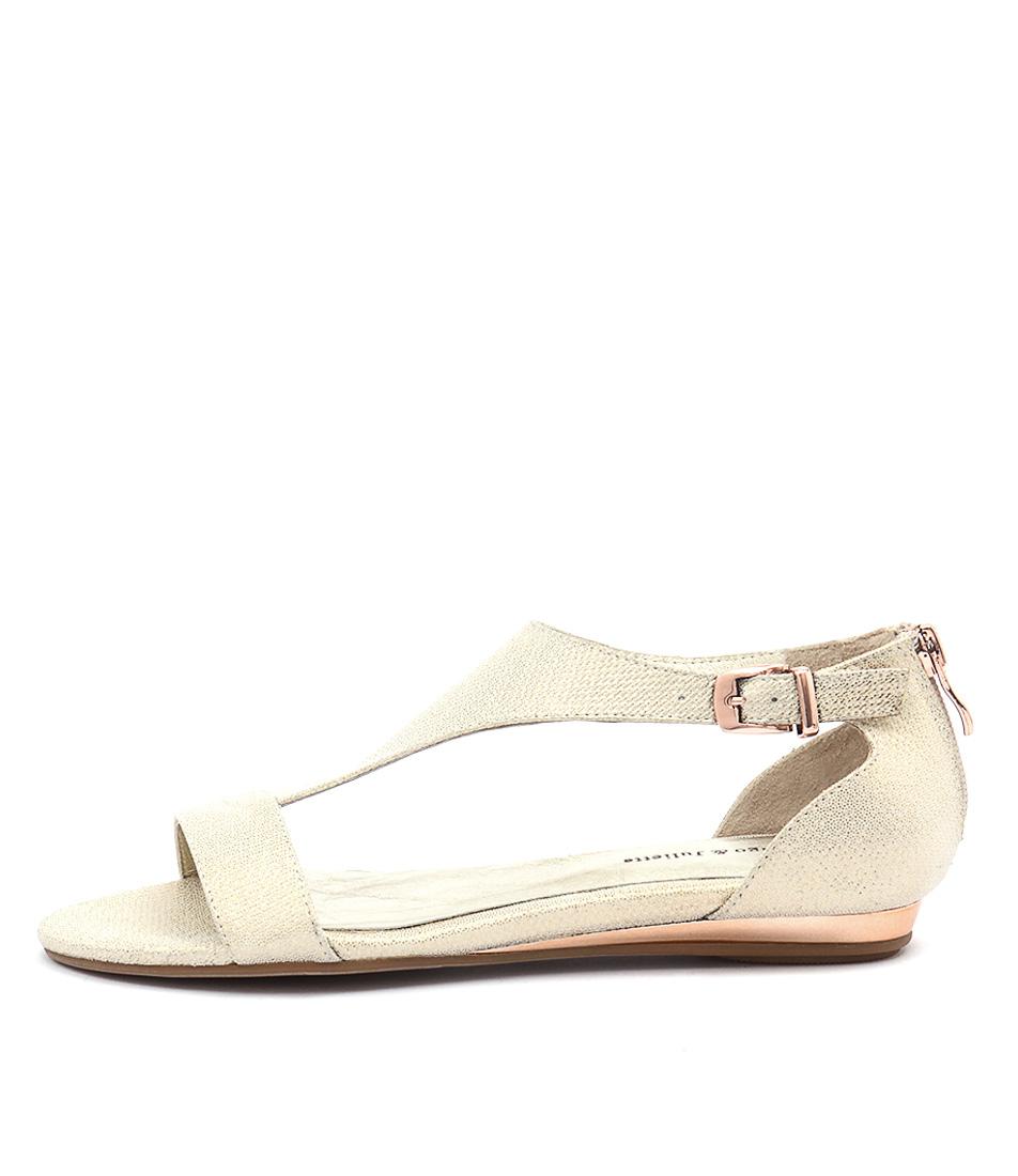 Django & Juliette Kamanda Champagne Rose Gold Sandals