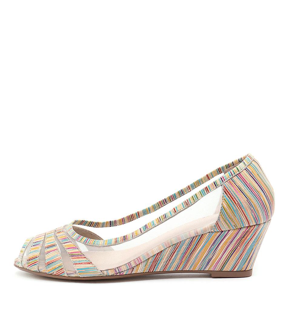 Django & Juliette Brunella Cantaloupe Multi High Heels
