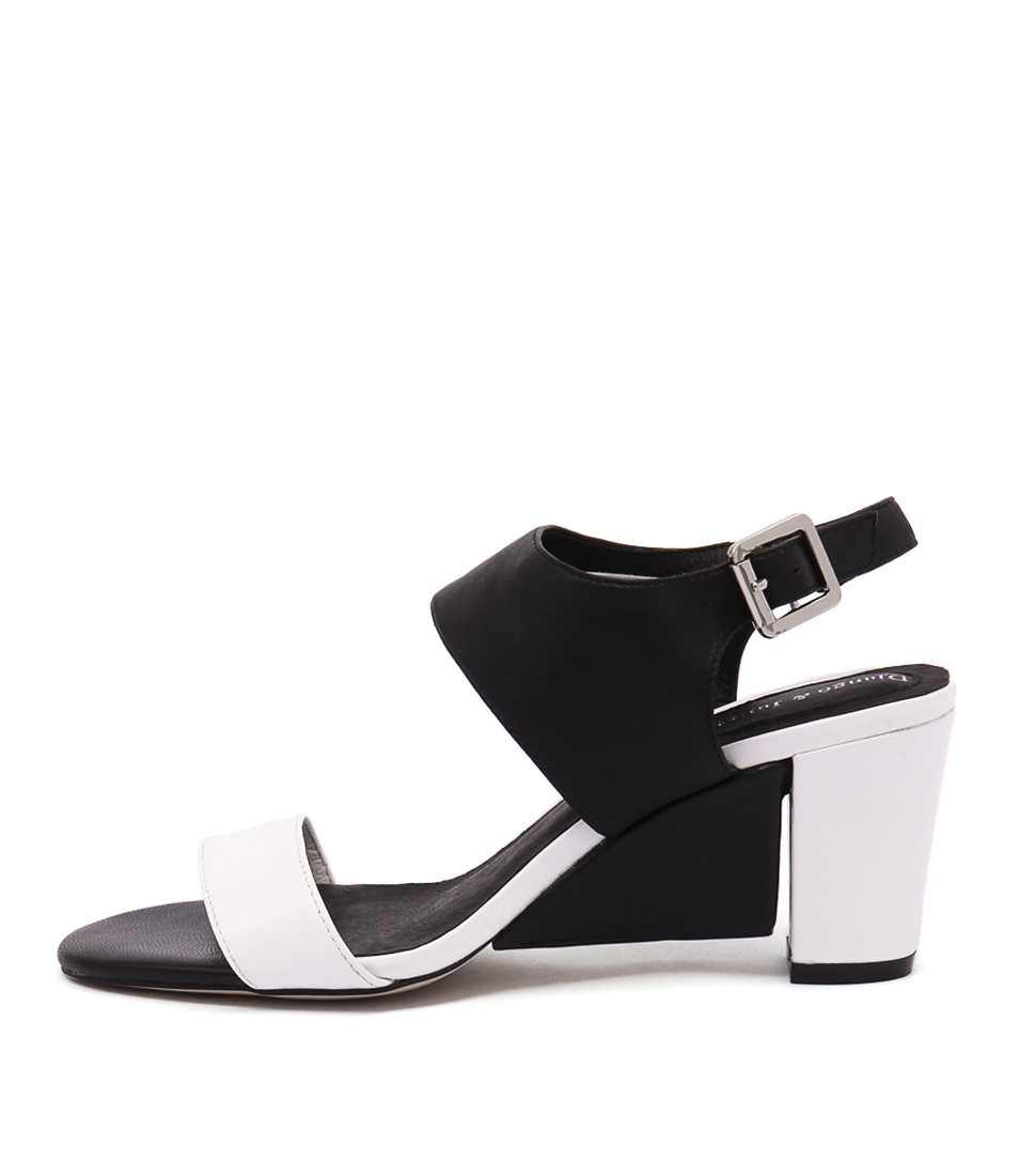 Django & Juliette Diesel White Black Sandals