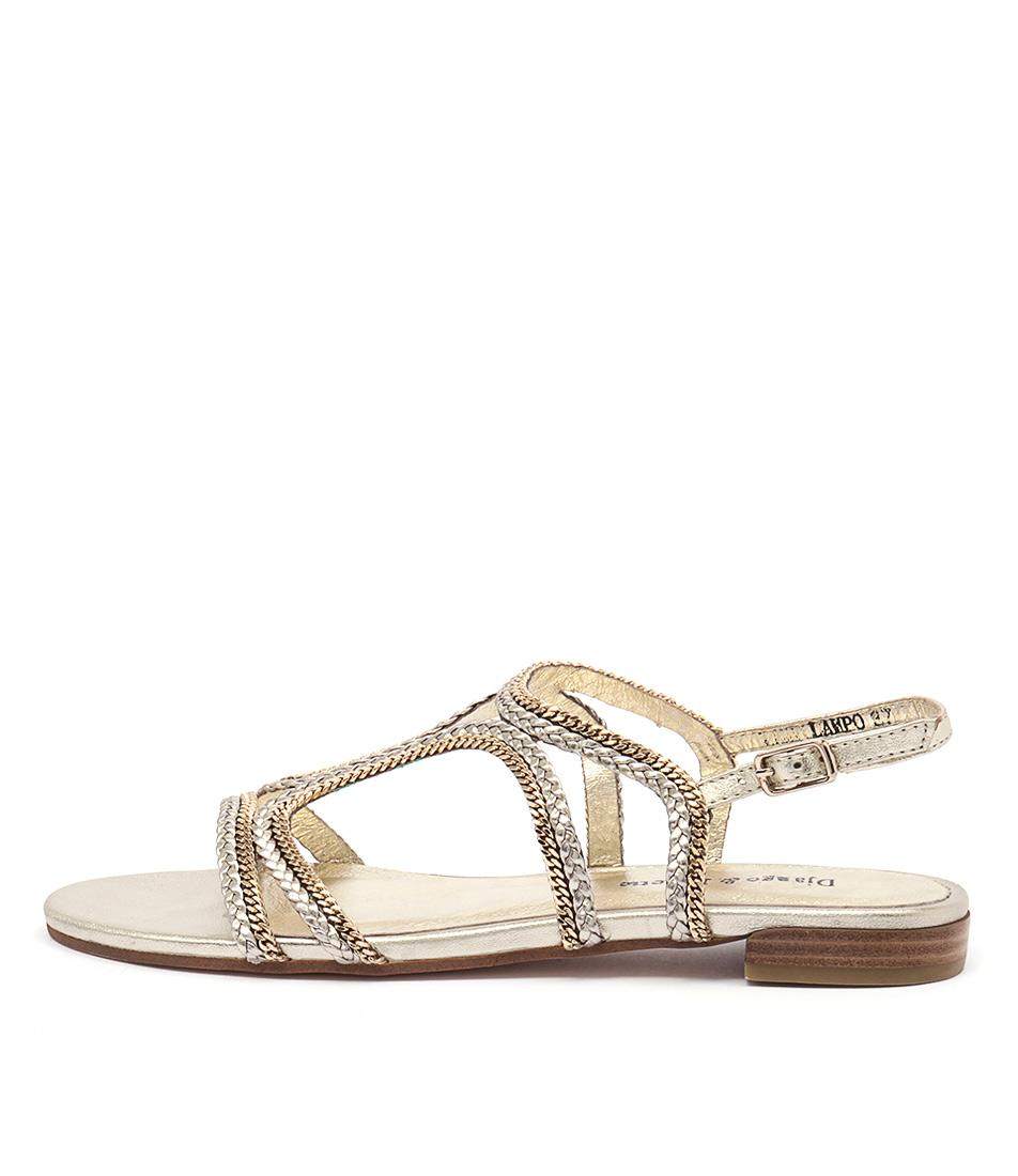 Django & Juliette Lampo Pale Gold Pale Gold Chain Sandals