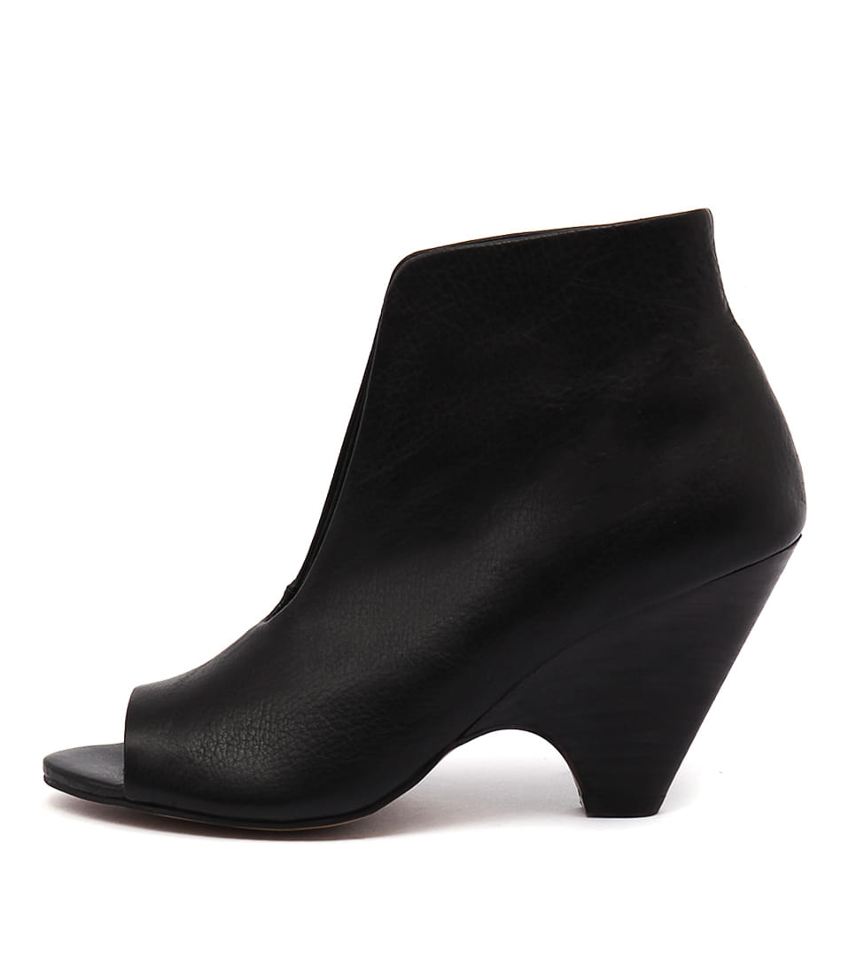 Django & Juliette Bess Black Dress Ankle Boots