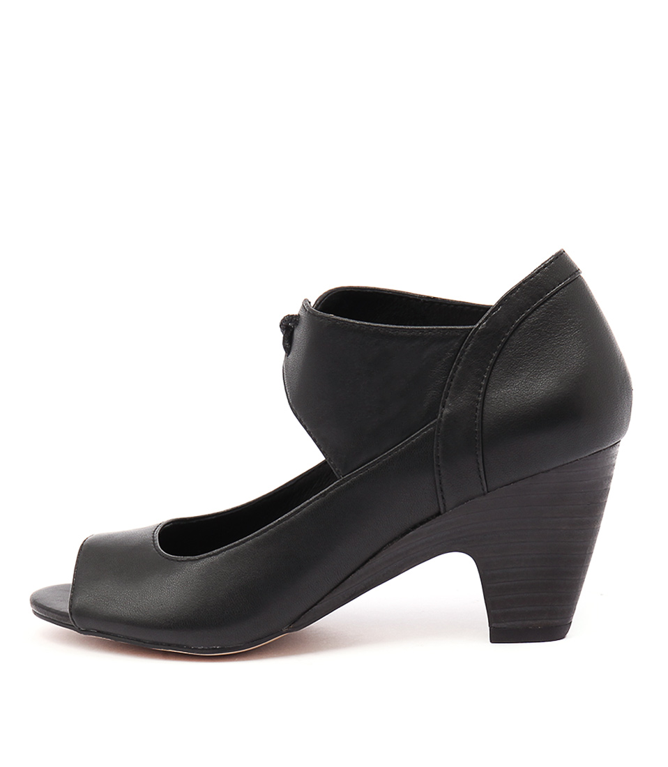 Django & Juliette Klippa Black Heeled Shoes