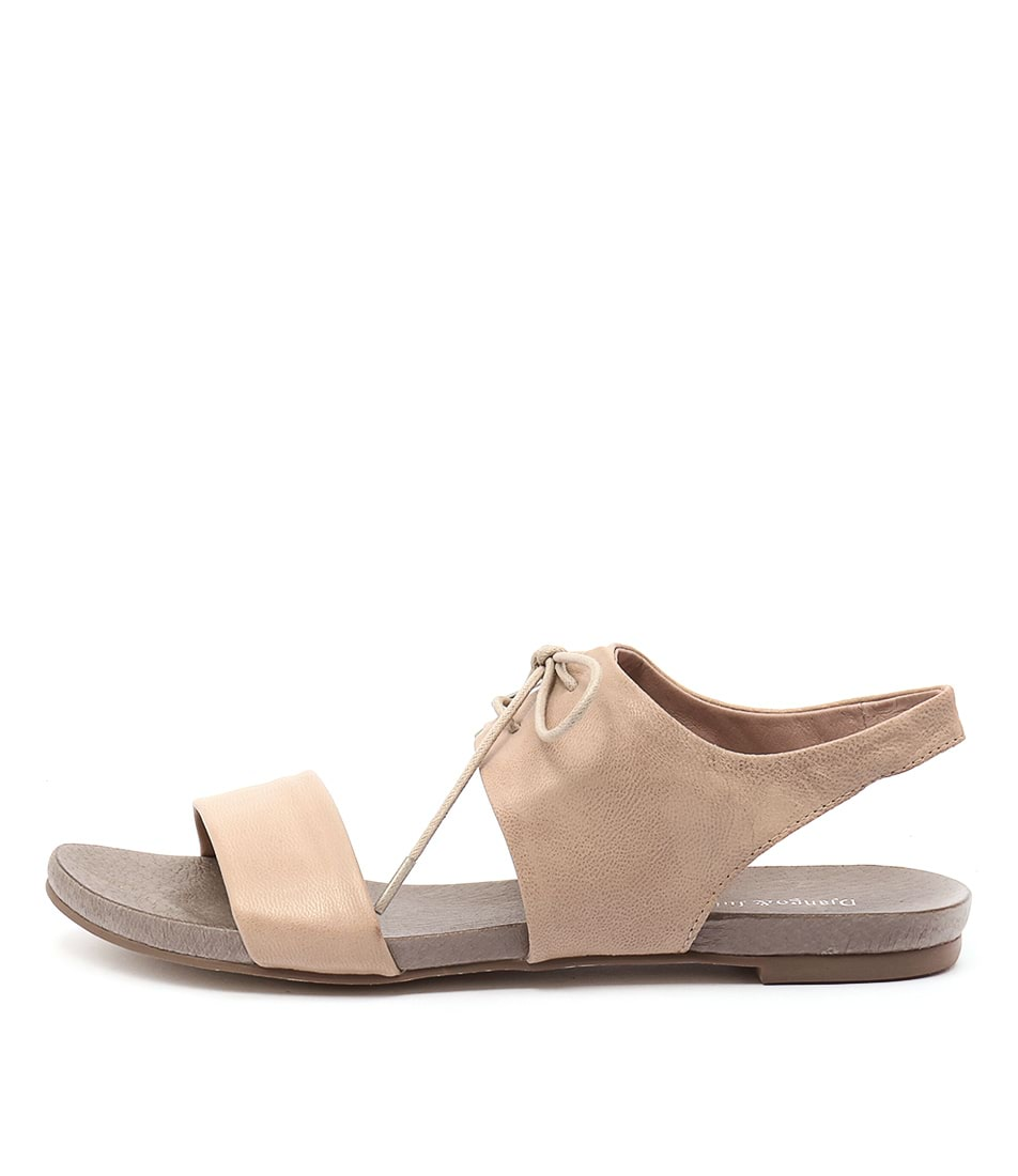 Django & Juliette James Nude Flat Sandals