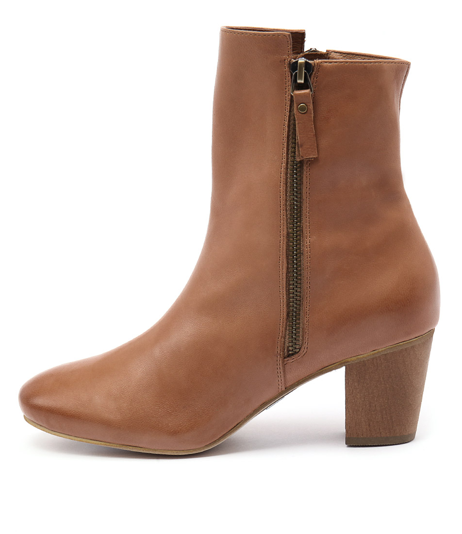 Photo of Django & Juliette Arna Tan Ankle Boots womens shoes
