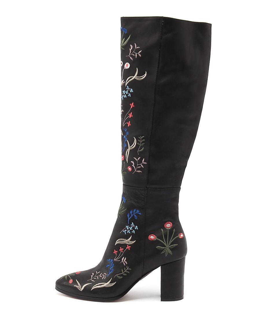 Django & Juliette Amaze Black Casual Long Boots