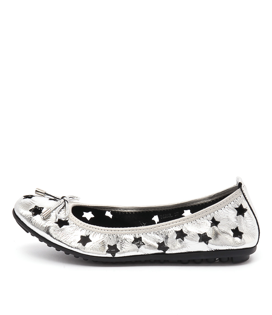 Django & Juliette Barol Silver Flat Shoes