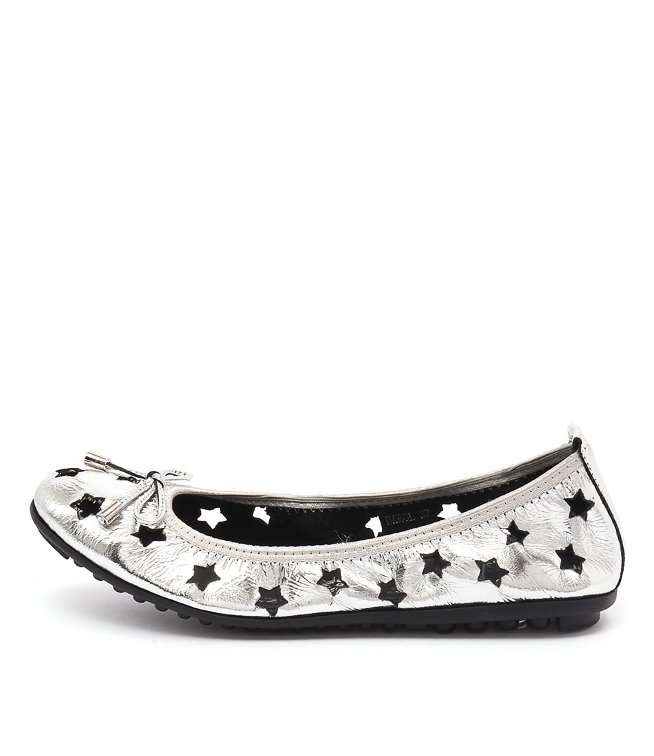 Django & Juliette Barol Silver Casual Flat Shoes