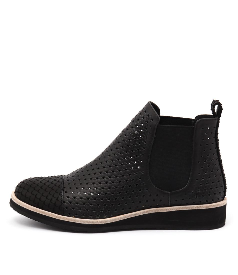Django & Juliette Chance Black Black Casual Ankle Boots