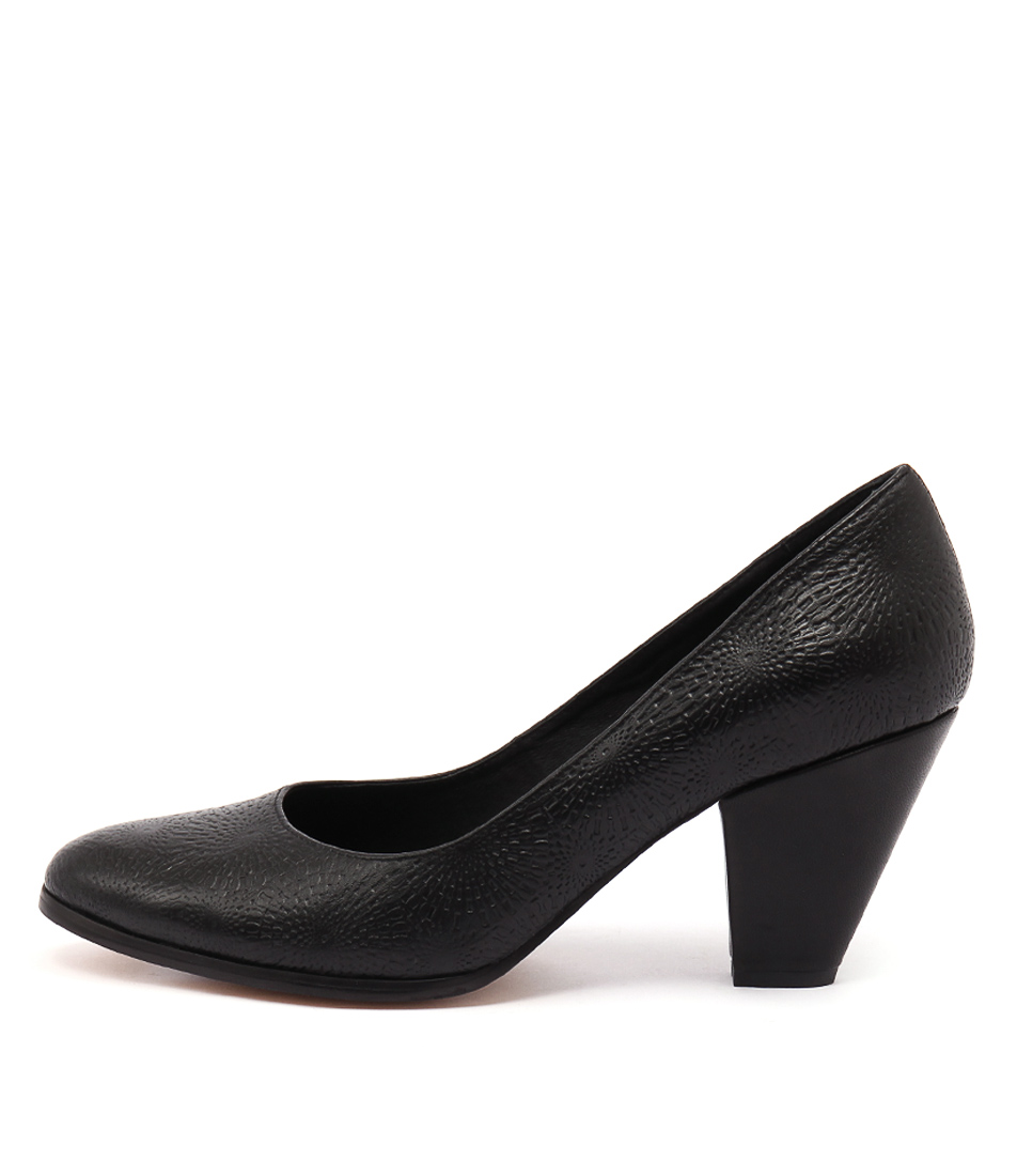 Django & Juliette Classica Black Casual Heeled Shoes