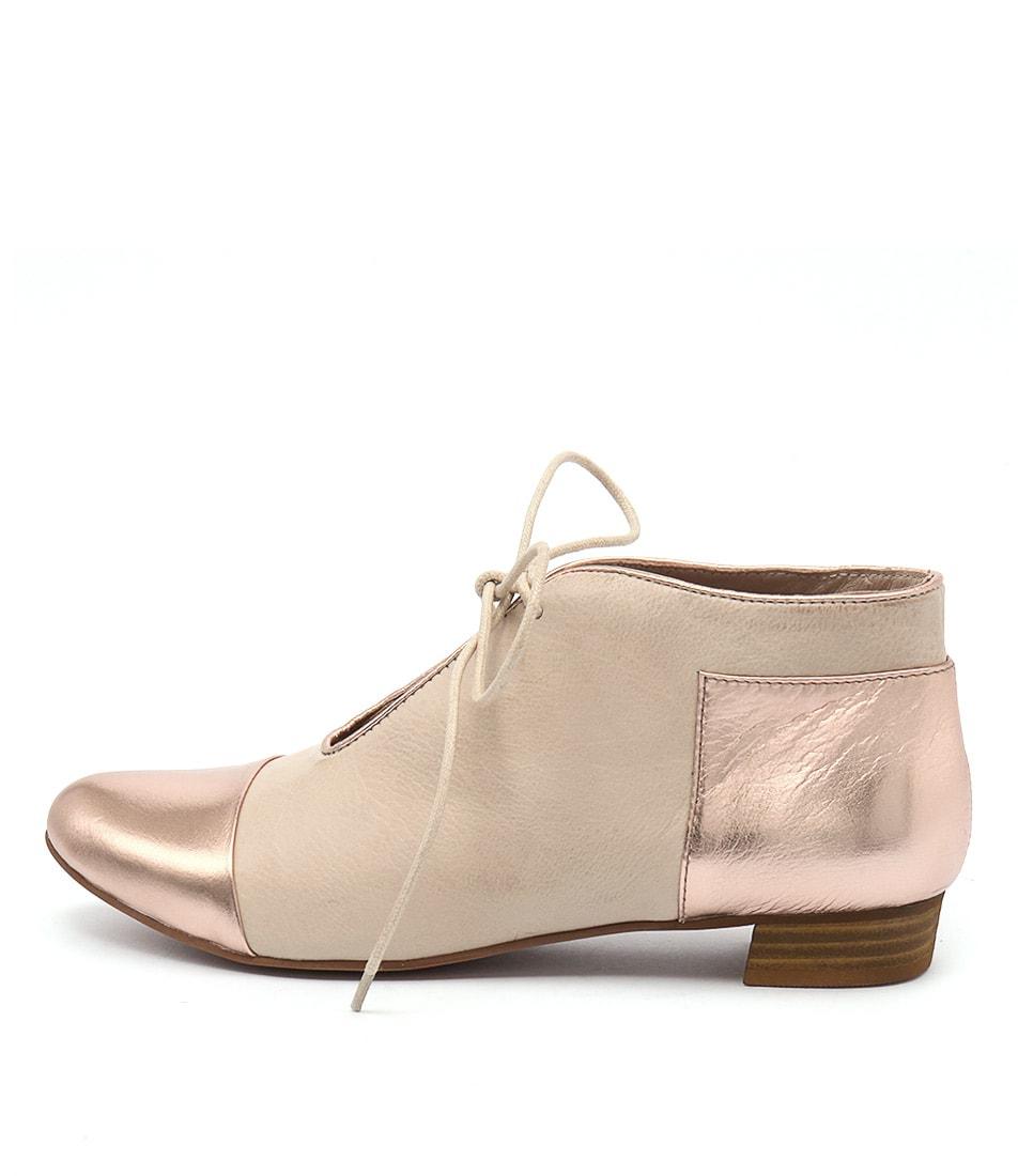 Django & Juliette Elista Rose Gold Nude Casual Flat Shoes