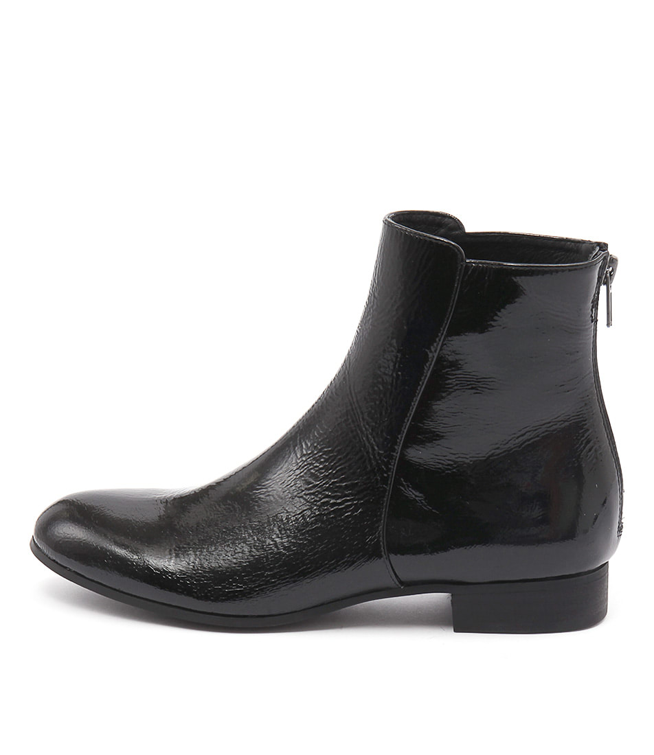 Django & Juliette Fabers Black Ankle Boots