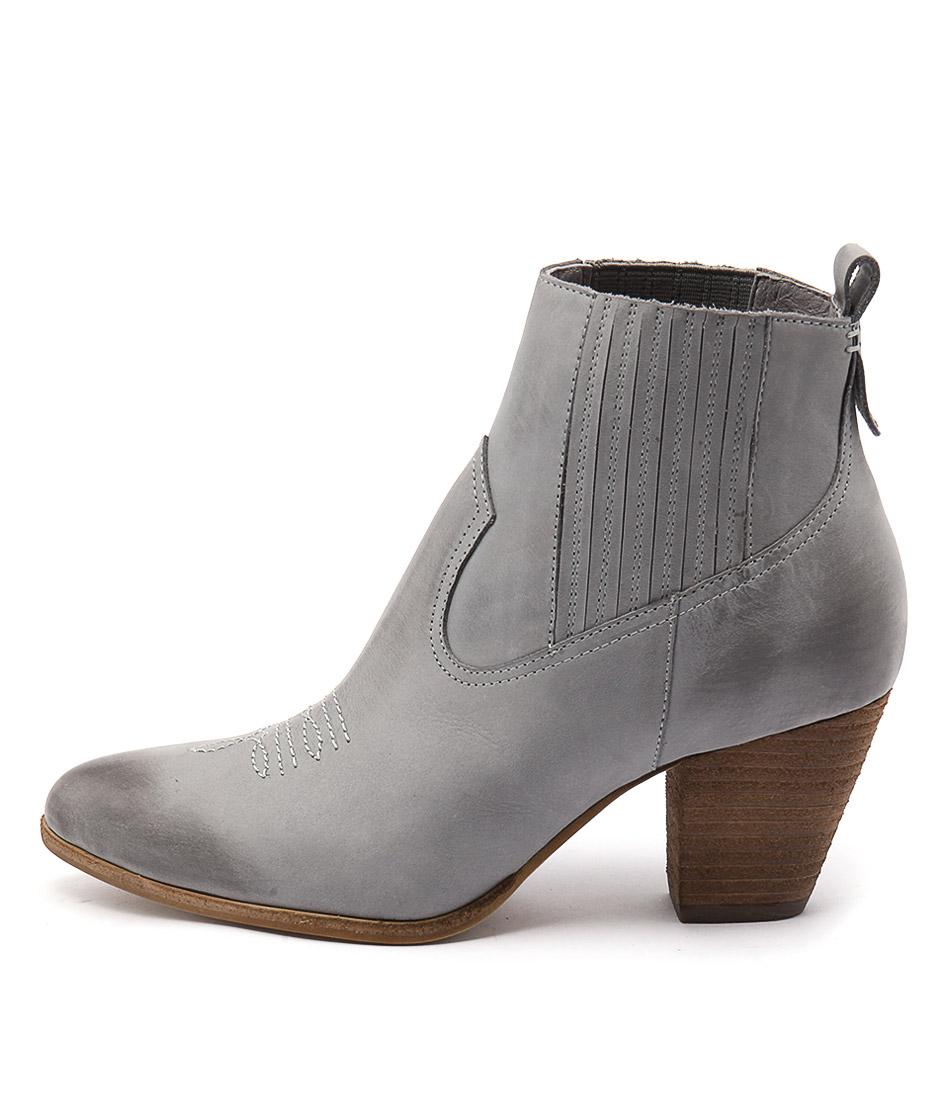 Django & Juliette Fanger Blue Grey Ankle Boots