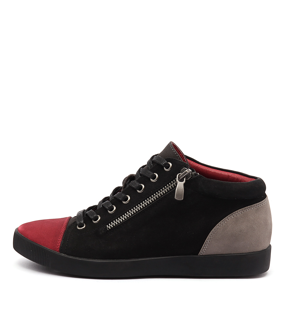 Django & Juliette Getgo Red Multi Sneakers