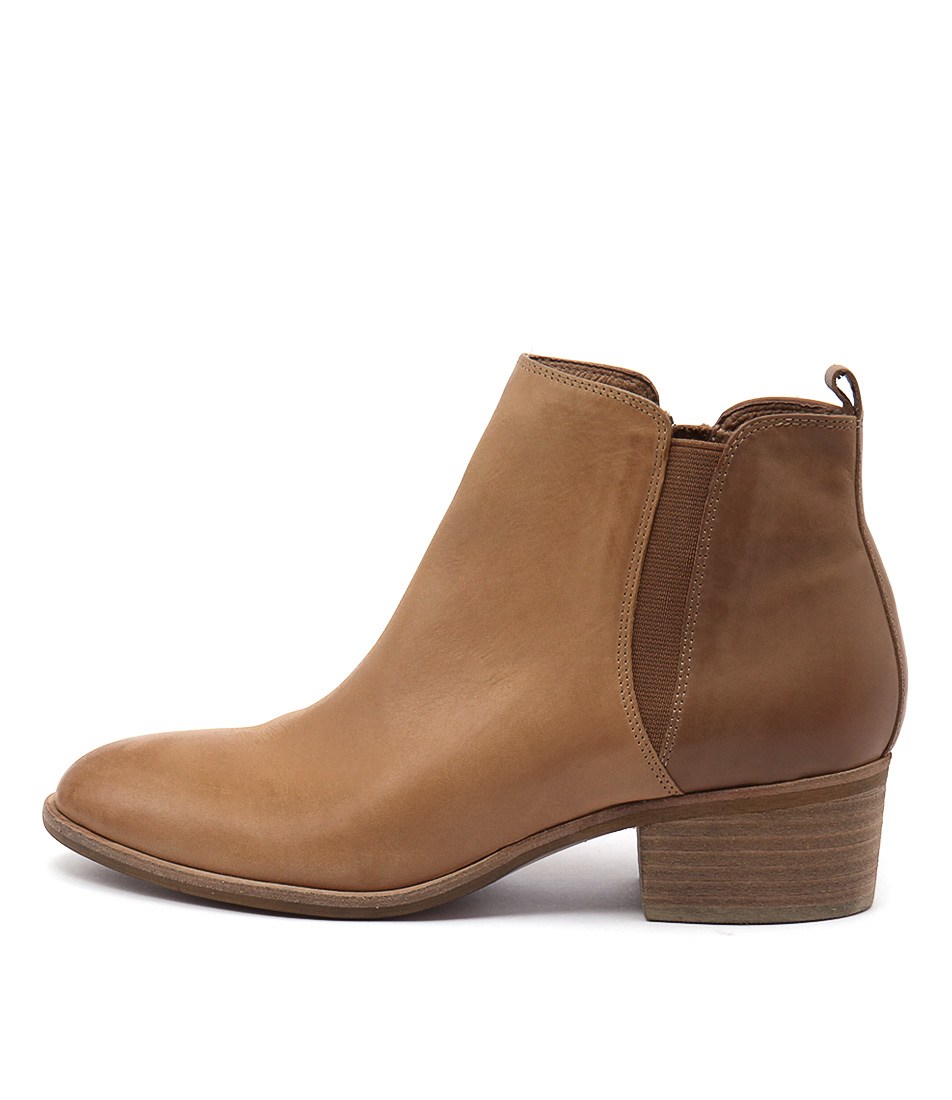 Django & Juliette Hostie Camel Tan Casual Ankle Boots