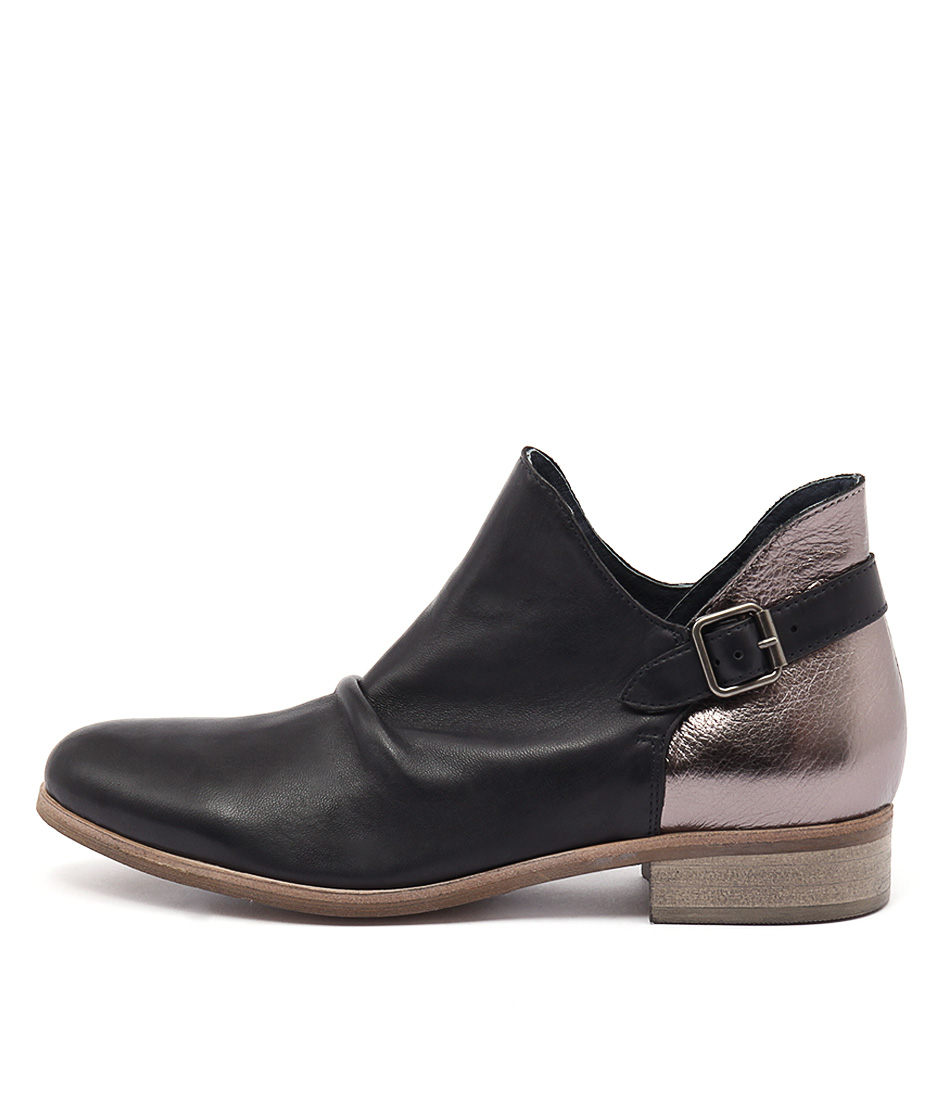 Django & Juliette Ironic Black Dk Bronze Casual Ankle Boots