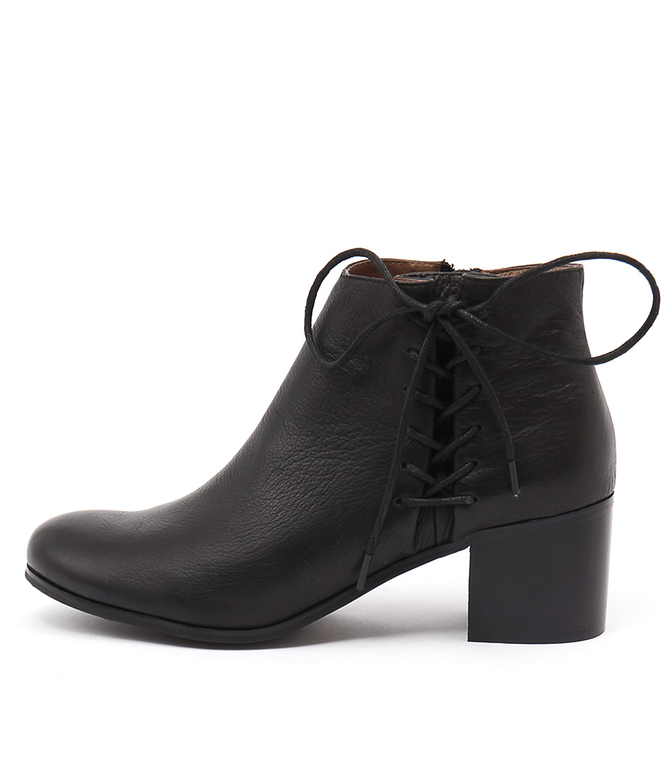 Django & Juliette Keltic Black Casual Ankle Boots