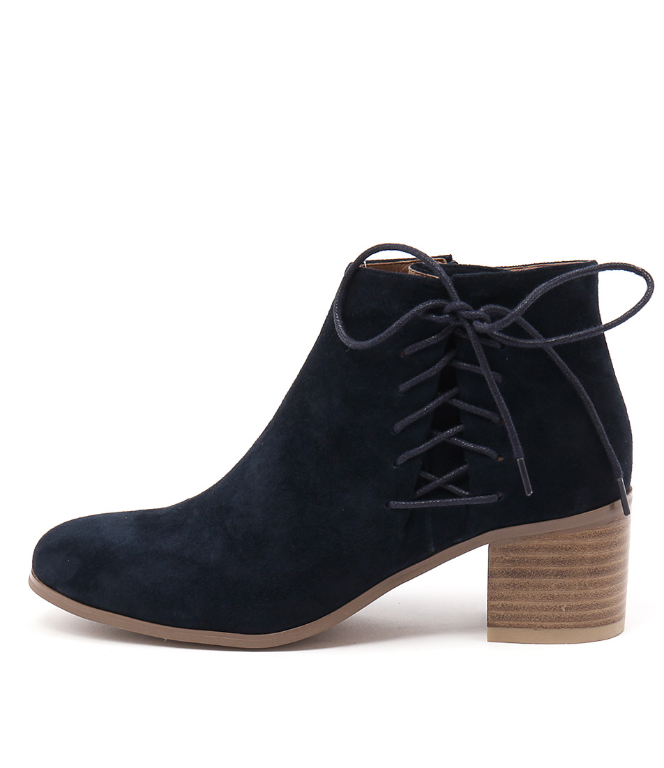 Django & Juliette Keltic Navy Casual Ankle Boots