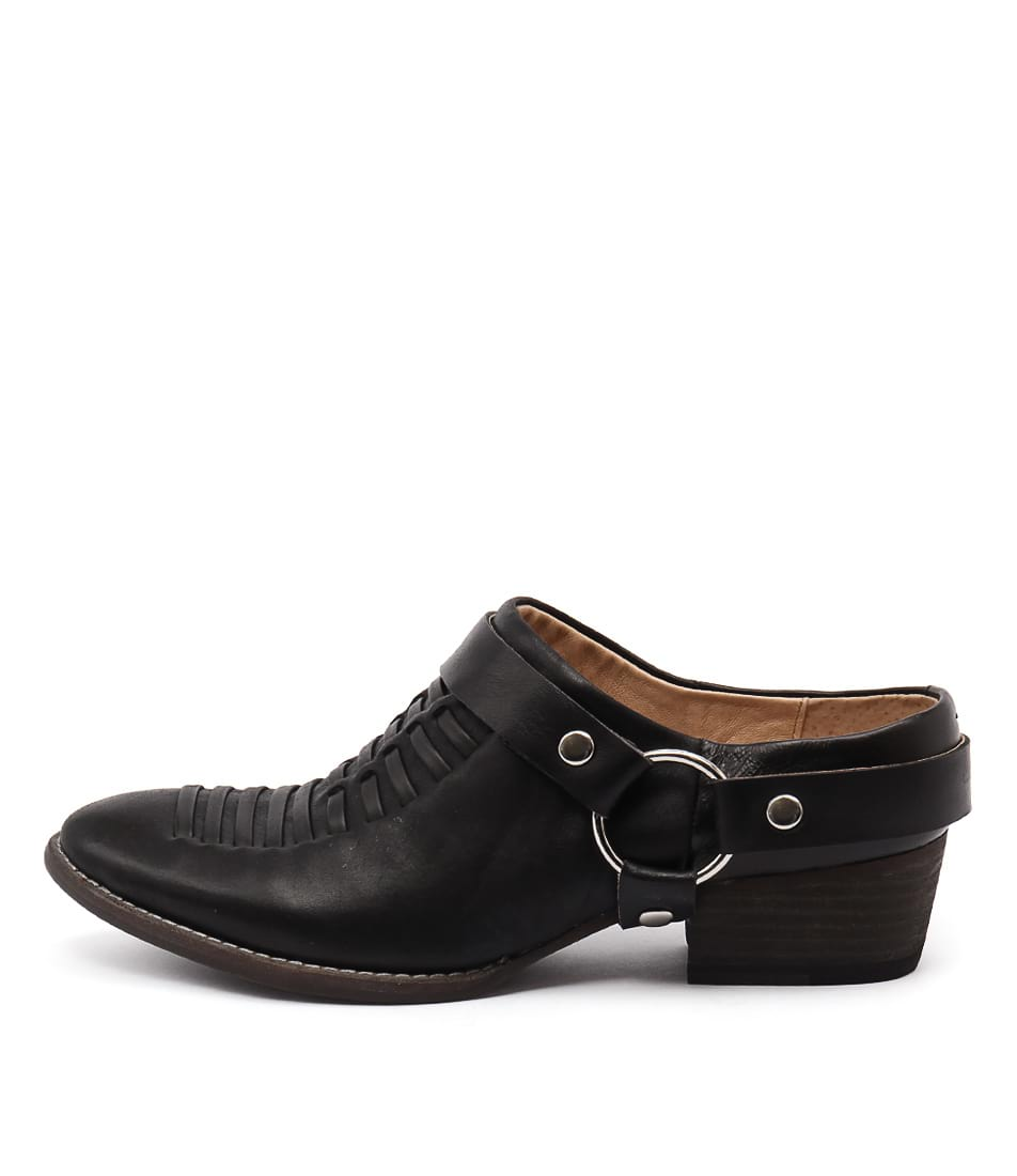 Django & Juliette Liita Black Casual Heeled Shoes