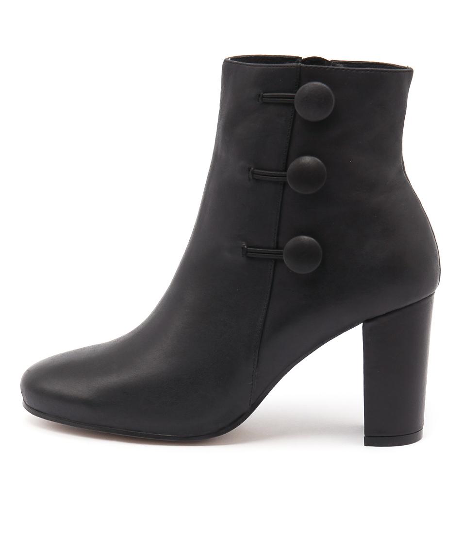 Django & Juliette Macapi Black Ankle Boots