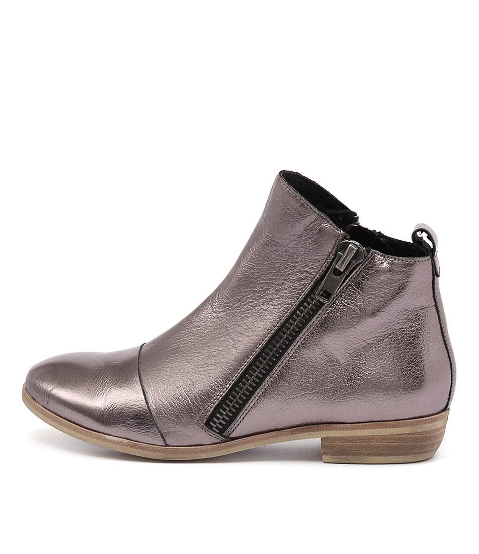 Django & Juliette Oba Dk Pewter Ankle Boots