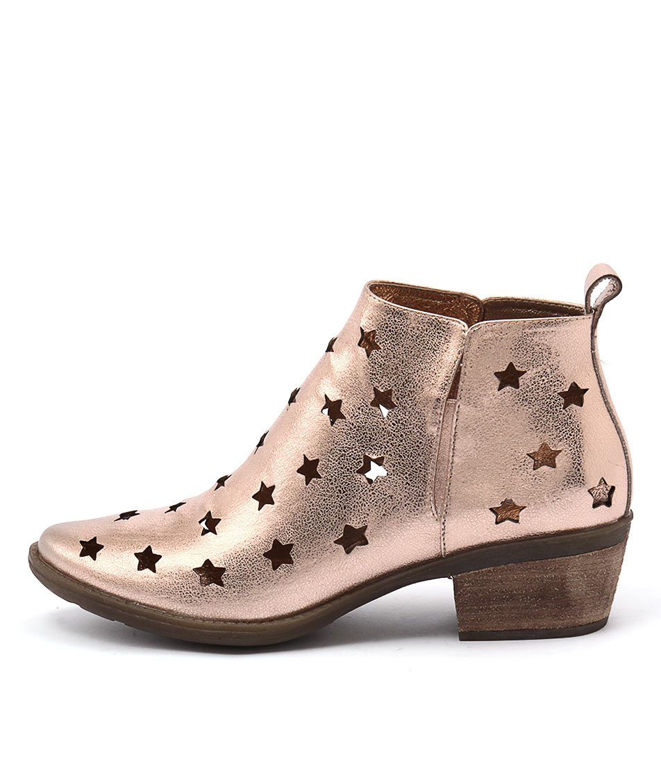 Django & Juliette Sacred Rose Gold Casual Ankle Boots