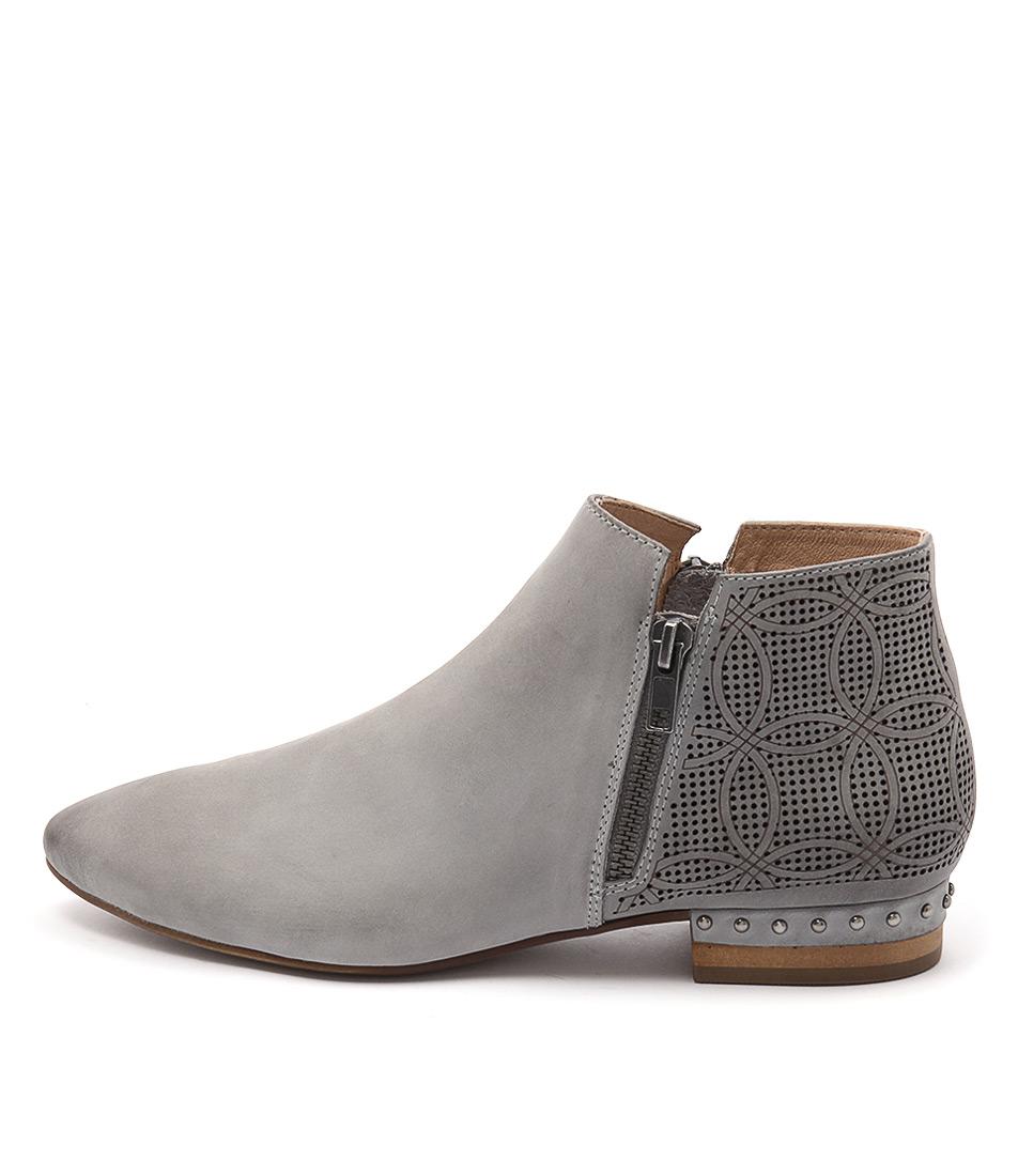Django & Juliette Verona Blue Grey Casual Ankle Boots