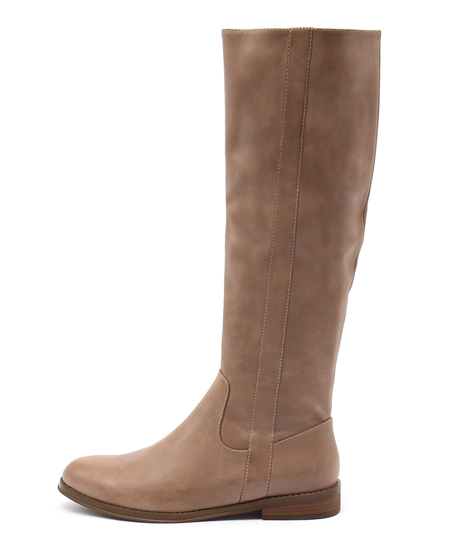 Django & Juliette Yarari Latte Casual Long Boots