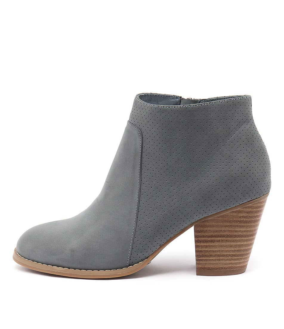 Django & Juliette Remote Lt Navy Casual Ankle Boots