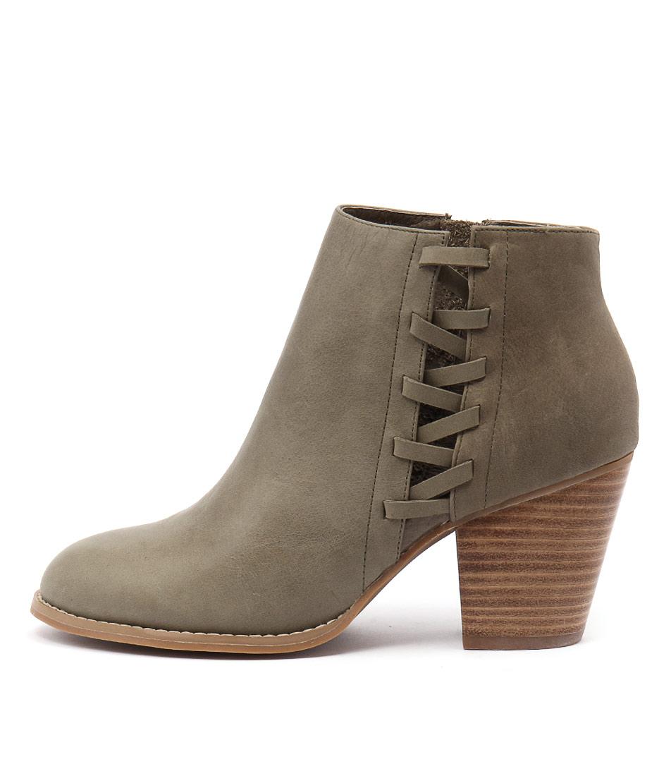 Django & Juliette Roscao Khaki Ankle Boots