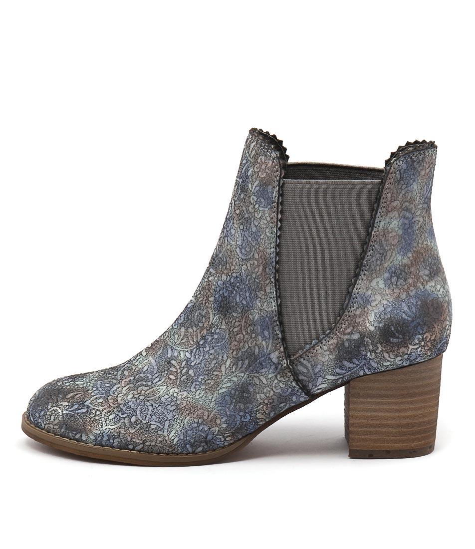 Django & Juliette Salist Pastel Multi Ankle Boots