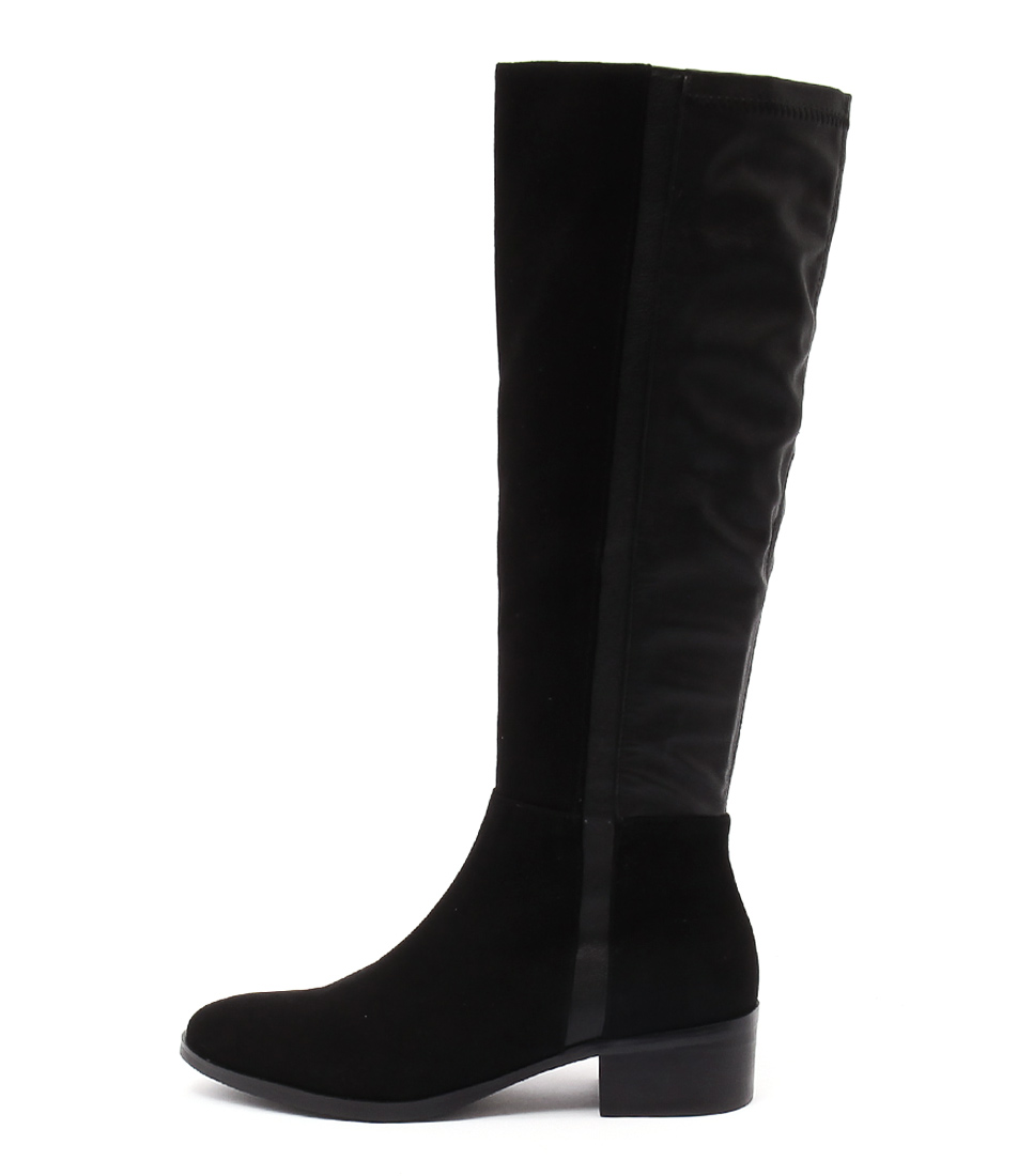 Django & Juliette Terri Black Casual Long Boots