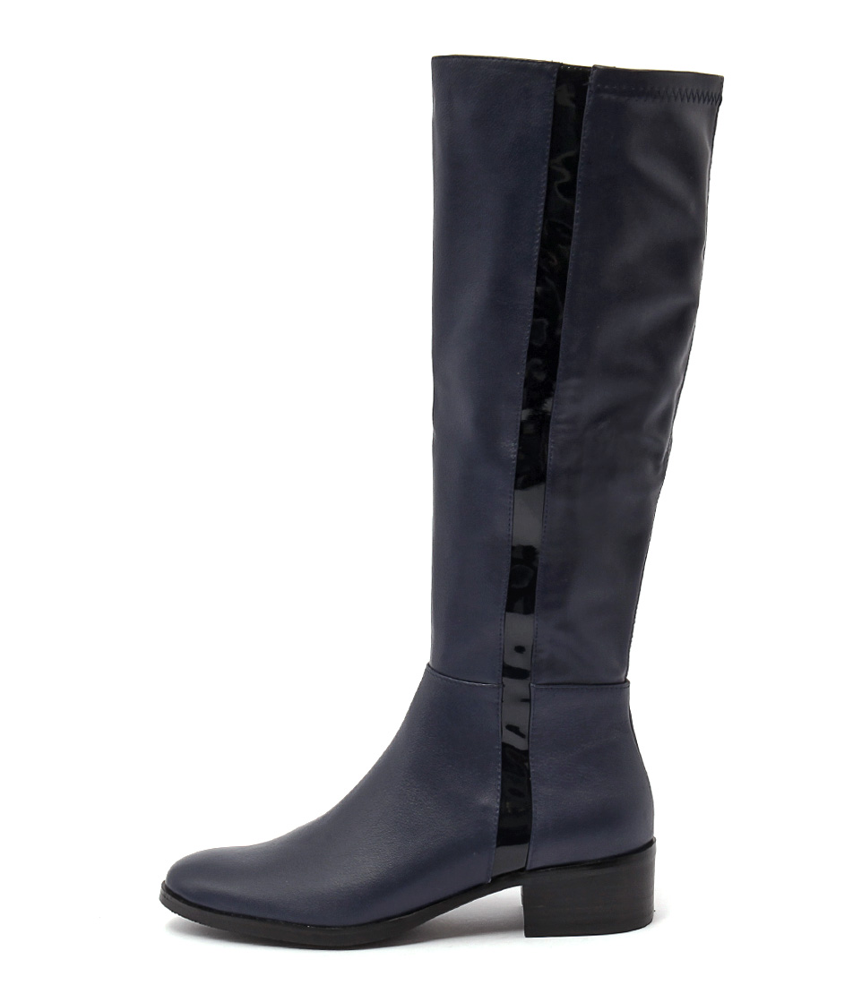 Django & Juliette Terri Navy Long Boots