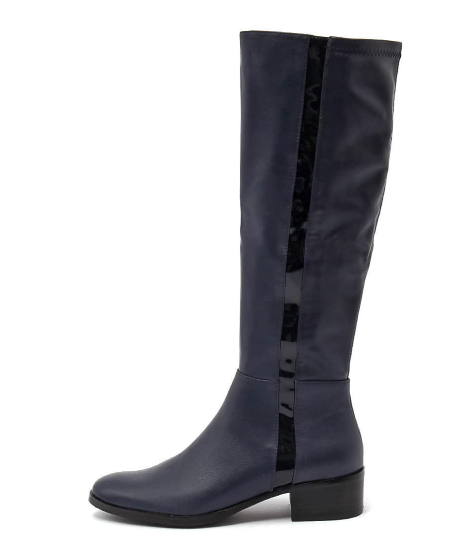 Django & Juliette Terri Navy Long Boots