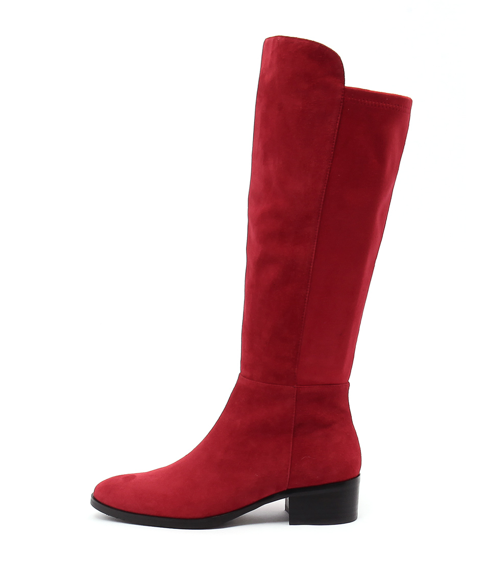 Django & Juliette Tetley Red Red Casual Long Boots